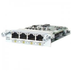 Cisco - HWIC-4ESW-POE-RF - Cisco EtherSwitch 4-port HWIC with PoE - 4 x 10/100Base-TX WAN100