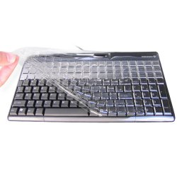 Cherry - kbcv4100n - Cherry KBCV 4100N Protective Cover - Supports Keyboard - Latex-free, UV-resistant - Polyethylene - Clear