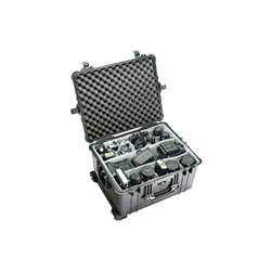 "Pelican - 1620-020-110 - Pelican 1620 Shipping Case with Foam - Internal Dimensions: 21.48"" Width x 16.42"" Depth x 12.54"" Height - External Dimensions: 24.6"" Width x 19.4"" Depth x 13.8"" Height - Double Throw Latch Closure - Copolymer - Black - For"