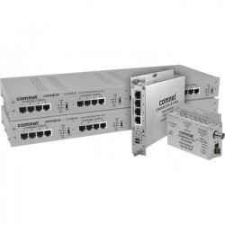 ComNet - CLFE1EOC - ComNet 1 Channel Ethernet over Coaxial Cable with Pass-through PoE - 1 x Network (RJ-45) - 5000 ft Extended Range