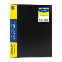 "C-Line - 33120 - C-Line Bound Sheet Protector Presentation Book - Letter - 8.50"" Width x 11"" Length Sheet Size - 24 Sheet Capacity - 13 Pockets - Poly - Black - 1 Each"""