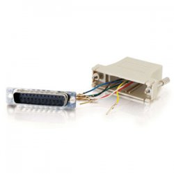 C2G (Cables To Go) - 02918 - C2G RJ12 to DB25 Male Modular Adapter - 1 x DB-25 Male - RJ-12 - Beige