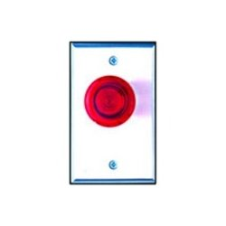 Camden Door Controls - CM-3000/R - Camden Illuminated Mushroom Pushbutton - Single Gang - Red - Cast Aluminum - For Indoor/Outdoor