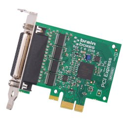 Brainboxes - PX-260 - Brainboxes PX-260 4-port Multiport Serial Adapter - PCI Express x1 - 4 x DB-9 Male RS-232 Serial Via Cable - Plug-in Card