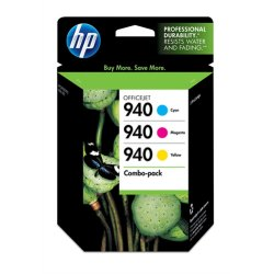 Hewlett Packard (HP) - CN065FN#140 - HP 940 Combo Pack Ink Cartridge - Cyan, Magenta, Yellow - Inkjet - 900 Page - 3 / Pack