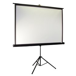 "Elite Screens - T85UWS1-PRO - Elite Screens T85UWS1-Pro Tripod Pro Portable Tripod Manual Pull Up Projection Screen (85"" 1:1 Aspect Ratio) (MaxWhite) - 60"" x 60"" - MaxWhite"