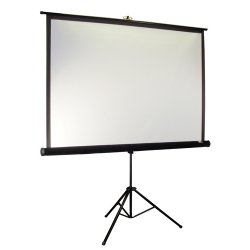 "Elite Screens - T113UWS1-PRO - Elite Screens T113UWS1-Pro Tripod Pro Portable Tripod Manual Pull Up Projection Screen (113"" 1:1 Aspect Ratio) (MaxWhite) - 80"" x 80"" - MaxWhite"