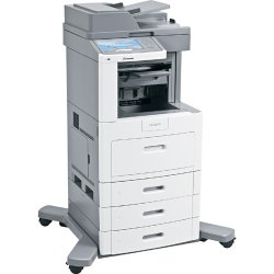 "Lexmark - 16M0172 - Lexmark X658DTFE Laser Multifunction Printer - Monochrome - Plain Paper Print - Desktop - Copier/Fax/Printer/Scanner - 55 ppm Mono Print - 1200 x 1200 dpi Print - Automatic Duplex Print - 55 cpm Mono Copy - 9"" Touchscreen - 600 dpi"