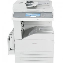 "Lexmark - 19Z4057 - Lexmark X860DE 4 Laser Multifunction Printer - Monochrome - Plain Paper Print - Copier/Fax/Printer/Scanner - 35 ppm Mono Print - 1200 x 1200 dpi Print - Automatic Duplex Print - 35 cpm Mono Copy - 9"" Touchscreen - 600 dpi Optical Scan"