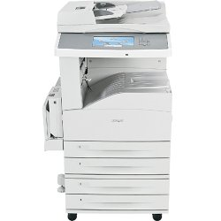 "Lexmark - 19Z4075 - Lexmark X860 X862DTE 4 Laser Multifunction Printer - Monochrome - Plain Paper Print - Floor Standing - Copier/Fax/Printer/Scanner - 45 ppm Mono Print - 45 cpm Mono Copy - 9"" Touchscreen - 600 dpi Optical Scan - Automatic Duplex Print -"