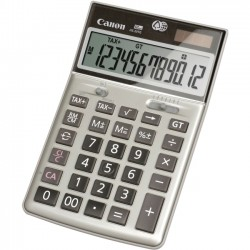 Canon - 1074B013 - Canon HS-20TG Semi-desktop Calculator - Metal Cover, Angled Display, Auto Power Off - 12 Digits - LCD - Battery/Solar Powered - 1.3 x 4.3 x 6.4
