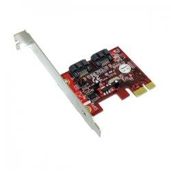 Addonics Technologies - AD2SA6GPX1 - Addonics AD2SA6GPX1 2-port SATA PCI Express 2.0 x1 Controller - Serial ATA/600 - PCI Express 2.0 x1 - 2 Total SATA Port(s) - 2 SATA Port(s) Internal