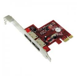 Addonics Technologies - ADSA6GPX1-2E - Addonics ADSA6GPX1-2E 2-port SATA PCI Express 2.0 x1 Controller - Serial ATA/600 - PCI Express 2.0 x1 - 2 Total SATA Port(s) - 2 SATA Port(s) External