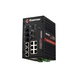 Comtrol - 32061-6 - Comtrol RocketLinx ES8510-XT Managed Industrial Ethernet Switch - 7 x Fast Ethernet Network, 3 x Gigabit Ethernet Network, 3 x Gigabit Ethernet Expansion Slot - Manageable - 3 Layer Supported - 5 Year Limited Warranty