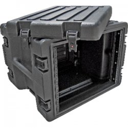 "SKB Cases - 1SKB-R8W - SKB 1SKB-R8W 8U Roto Rolling Rack - Internal Dimensions: 19"" Width x 14"" Height - 21.62 gal - Latching Closure - Heavy Duty - Stackable - Polyethylene, Steel - Black - For Multipurpose"