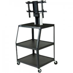 Da-Lite - 7468 - Da-Lite PIXMate PM7UL-47JF Flat Panel Cart - Up to 50 Screen Support - 70 lb Load Capacity - Steel - Black