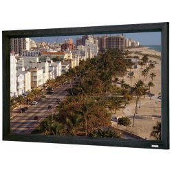 "Da-Lite - 87123V - Da-Lite Cinema Contour with Pro-Trim Fixed Frame Projection Screen - 72"" x 96"" - Da-Mat - 120"" Diagonal"