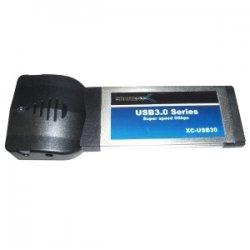 Sabrent - XC-USB30 - Sabrent 2-port ExpressCard USB Adapter - ExpressCard - Plug-in Module - 2 USB Port(s) - 2 USB 3.0 Port(s)