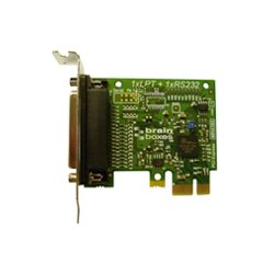 Brainboxes - PX-157 - Brainboxes PX-157 1-port PCI Express Parallel Adapter - Low-profile Plug-in Card - PCI Express x1 - PC