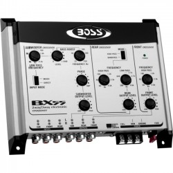 Boss Audio Systems - BX55 - BOSS AUDIO BX55 2/3-way Pre-Amp Electronic Crossover with Remote Subwoofer Level Control - 1 Year Warranty