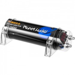 Planet Audio - PCBLK2.0 - Planet Audio PCBLK2.0 2 Farad Capacitor - 1 Year Warranty