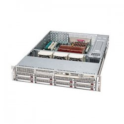Supermicro - CSE-825TQ-R700LPB - Supermicro SC825 TQ-R700LPB - Rack-mountable - 2U - extended ATX - SATA/SAS - hot-swap 700 Watt - black