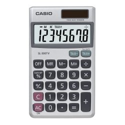 Casio - SL-300 - Casio Wallet Style Pocket Calculator - 8 Digits - LCD - Battery/Solar Powered - 4.6 x 2.8 x 0.3