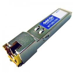 AddOn - J8177C-AOT - AddOn HP J8177C Compatible TAA Compliant 1000Base-TX SFP Transceiver (Copper, 100m, RJ-45) - 100% application tested and guaranteed compatible