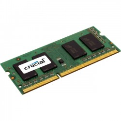 Crucial Technology - CT2KIT25664BF160B - Crucial 4GB (2 x 2 GB) DDR3 SDRAM Memory Module - 4 GB (2 x 2 GB) - DDR3 SDRAM - 1600 MHz DDR3-1600/PC3-12800 - Non-ECC - Unbuffered - 204-pin - SoDIMM