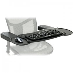 "Ergoguys - MECS-BLK-001 - Mobo Chair Mount Ergo Keyboard and Mouse Tray System - 2.5"" x 12.5"" x 7.5"" - Black"