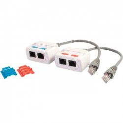 C2G (Cables To Go) / Legrand - 37049 - C2G RJ45 Network Combiner Kit - Audio Line In