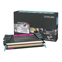 Lexmark - C734A4MG - Lexmark Return Program Toner Cartridge - Laser - 6000 Page - Magenta