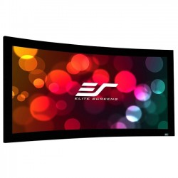 Elite Screens - CURVE110WH2 - Elite Screens Lunette Curve110WH2 Fixed Frame Projection Screen - 110 - 16:9 - Wall Mount - 54 x 96 - CineWhite