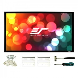 Elite Screens - CURVE135H-A1080P3 - Elite Screens Lunette CURVE135H-A1080P3 Fixed Frame Projection Screen - 135 - 16:9 - Wall Mount - 66.2 x 117.7 - AcousticPro1080P3