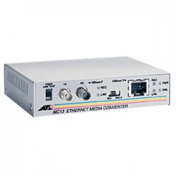 Allied Telesis - AT-MC13-60 - Allied Telesis AT-MC13 Ethernet Media Converter - 1 x Network (RJ-45) - 1 x ST Ports - 10Base-T, 10Base-FL - External, Rack-mountable