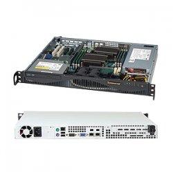 Supermicro - CSE-512F-350B - Supermicro SC512 F-350B - Rack-mountable - 1U - ATX 350 Watt - black
