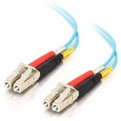C2G (Cables To Go) - 36233 - 3m LC-LC 10Gb 50/125 OM3 Duplex Multimode Fiber Optic Cable (Plenum-Rated) - Aqua - Fiber Optic for Network Device - LC Male - LC Male - 10Gb - 50/125 - Duplex Multimode - OM3 - 10GBase-SR, 10GBase-LRM - Plenum-Rated - 3m -