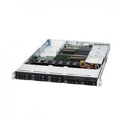 Supermicro - SYS-1026T-6RFT+ - Supermicro SuperServer 1026T-6RFT+ Barebone System - 1U Rack-mountable - Intel 5520 Chipset - Socket B LGA-1366 - 2 x Processor Support - Black - 192 GB DDR3 SDRAM DDR3-1333/PC3-10600 Maximum RAM Support - Serial ATA/300,