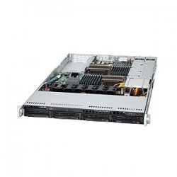 Supermicro - SYS-6016T-6RF+ - Supermicro SuperServer 6016T-6RF+ Barebone System - 1U Rack-mountable - Intel 5520 Chipset - Socket B LGA-1366 - 2 x Processor Support - Black - 192 GB DDR3 SDRAM DDR3-1333/PC3-10600 Maximum RAM Support - Serial ATA/300,
