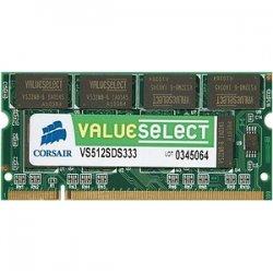 Corsair - VS512SDS333 - Corsair Value Select 512MB DDR SDRAM Memory Module - 512MB (1 x 512MB) - 333MHz DDR333/PC2700 - Non-ECC - DDR SDRAM - 200-pin