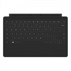 Microsoft - D5S-00001 - Microsoft Surface Keyboard/Cover Case for Tablet - Black - Spill Resistant - 7.4 Height x 11 Width x 0.1 Depth