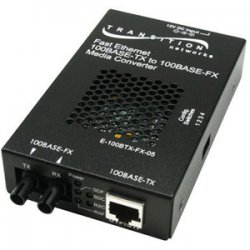 Transition Networks - E-100BTX-FX-05(SM)EU - Transition Networks E-100BTX-FX-05(SM) Fast Ethernet Media Converter - 1 x RJ-45 , 1 x SC Duplex - 100Base-TX, 100Base-FX