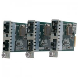 Omnitron - 8651-1 - iConverter 1000Mbps Gigabit Ethernet Fiber to Single-Fiber Media Converter SC Multimode 550m to Single-Mode BiDi 20km Module - 1 x 1000BASE-SX; 1 x 1000BASE-BX-D (1550/1310); Internal Module; Lifetime Warranty