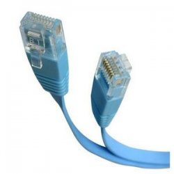 StarTech - FLAT45BL6 - StarTech.com 6 ft Blue Flat Molded RJ45 UTP Cat 5e Patch Cable - 6ft Patch Cord - Category 5e - 6 ft - 1 x RJ-45 Male - 1 x RJ-45 Male - Blue