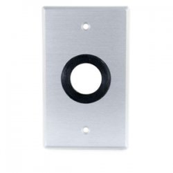 C2G (Cables To Go) - 40488 - C2G 1in Grommet Cable Pass Through Single Gang Wall Plate - Brushed Aluminum - 1-gang