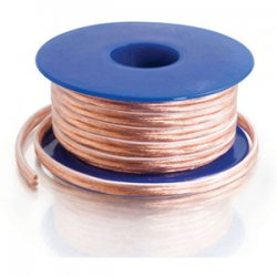 C2G (Cables To Go) - 40530 - C2G 100ft 18 AWG Bulk Speaker Wire - Bare Wire - Bare Wire - 100ft - Clear