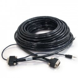 C2G (Cables To Go) - 40179 - C2G 40179 Audio/Video Cable - 75 ft - Male VGA, Mini-phone Male Audio - Male VGA, Mini-phone Male Audio