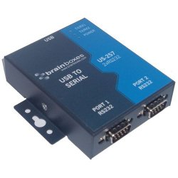 Brainboxes - US-257 - Brainboxes US-257 2-port Serial Hub - USB