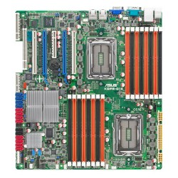 Asus - KGPE-D16 - Asus KGPE-D16 Server Motherboard - AMD SR5690 Chipset - Socket G34 LGA-1944 - SSI EEB 3.61 - 2 x Processor Support - 256 GB DDR3 SDRAM Maximum RAM - 1.33 GHz Memory Speed Supported - 16 x Memory Slots - Serial ATA/300 - On-board Video