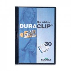 Durable - 2203BK - Durable DURACLIP Report Cover - Letter - 8 1/2 x 11 Sheet Size - 30 Sheet Capacity - Vinyl - Black, Clear - 1.44 lb - 1 Each